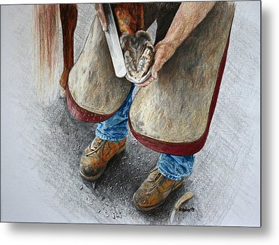 The Farrier Metal Print by Kathy Roberts