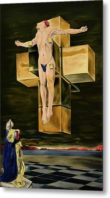The Father Is Present -after Dali- Metal Print