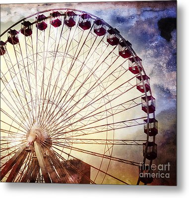 The Ferris Wheel At Navy Pier Metal Print