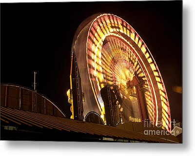 Metal Print featuring the photograph The Ferris Wheel by David Bishop