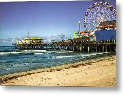 The Ferris Wheel - Santa Monica Pier Metal Print