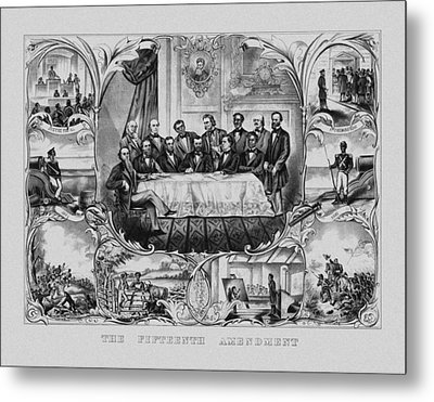 The Fifteenth Amendment  Metal Print by War Is Hell Store
