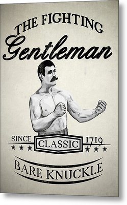 The Fighting Gentlemen Metal Print