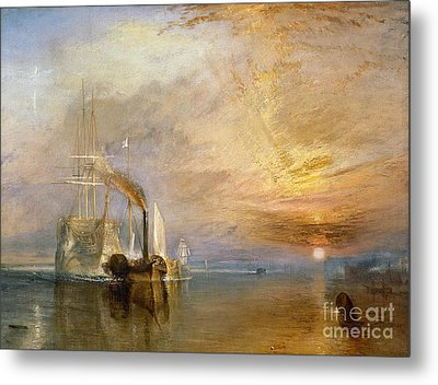 The Fighting Temeraire Tugged To Her Last Berth To Be Broken Up Metal Print by Joseph Mallord William Turner