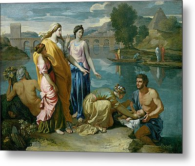 The Finding Of Moses Metal Print by Nicolas Poussin