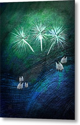 Metal Print featuring the digital art The Fireworks Are Starting by Jean Moore