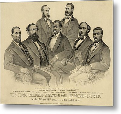 The First African American Senator Metal Print by Everett