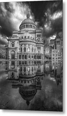 The First Church Of Christ Scientist Bw Metal Print