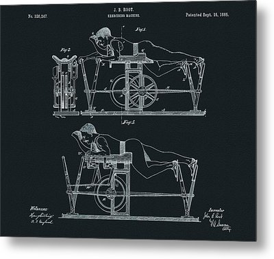 The First Exercise Machine Illustration Metal Print by Dan Sproul