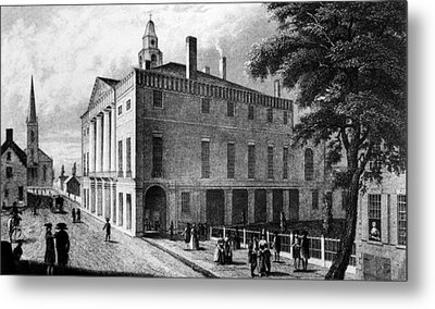 The First Federal Hall, At 26 Wall Metal Print by Everett
