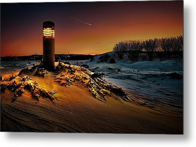 The First Light At Sunset Metal Print