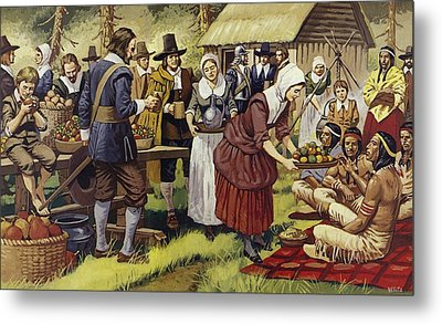 The First Thanksgiving  Metal Print by Mike White