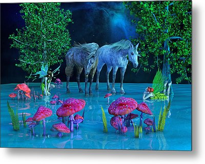 The First Time We Saw Horses Metal Print by Betsy Knapp