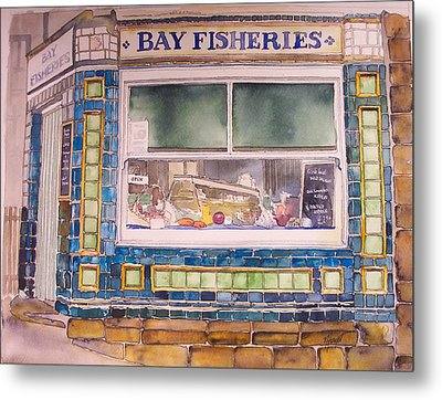 The Fish And Chip Shop Metal Print by Victoria Heryet