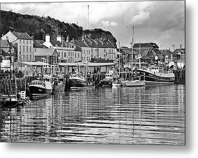 The Fish Quay, Whitby Metal Print
