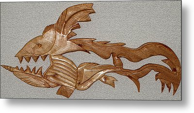 The Fish Skeleton Metal Print