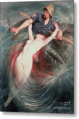 The Fisherman And The Siren Metal Print