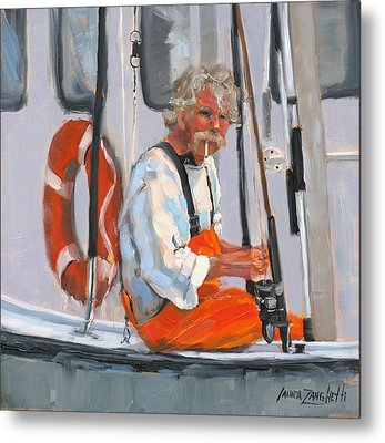 The Fisherman Metal Print by Laura Lee Zanghetti