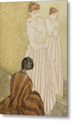 The Fitting Metal Print by Mary Stevenson Cassatt