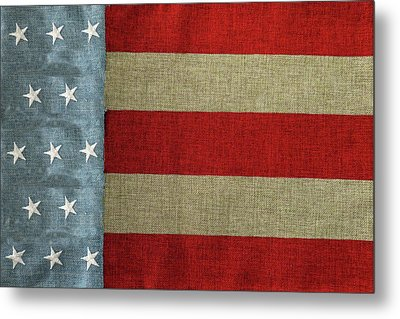 Metal Print featuring the photograph The Flag by Tom Prendergast