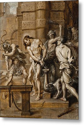 The Flagellation Metal Print