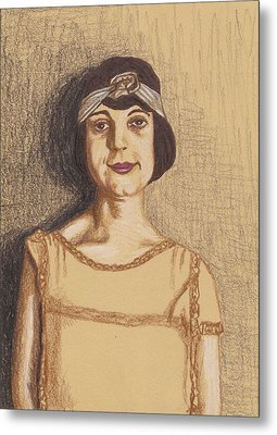 The Flapper Metal Print by Jean Haynes