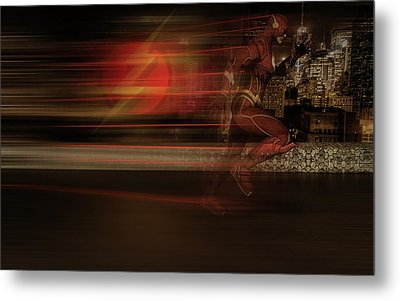 Metal Print featuring the digital art The Flash  by Louis Ferreira