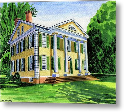 The Florence Griswold House In Old Lyme Ct. Metal Print