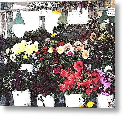 The Flower Market Metal Print by James Johnstone