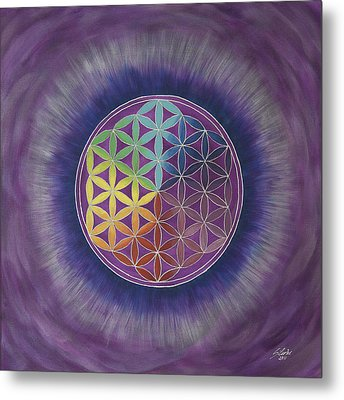 The Flower Of Life Metal Print by Silvia Flores