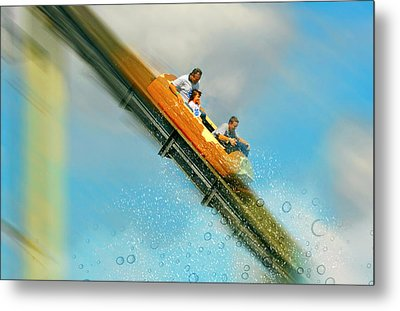 Metal Print featuring the photograph The Flume by Diana Angstadt