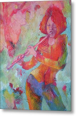 The Flute Player Metal Print by Susanne Clark