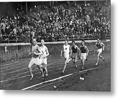 The Flying Finn Takes The Lead Metal Print by Underwood Archives