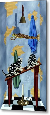The Flying Frog Metal Print