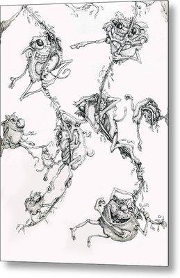 The Flying Puffballs Metal Print by Philip Straub