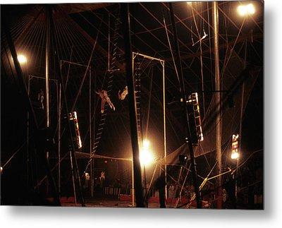 The Flying Trapeze 1980s Circus Metal Print by Joseph Duba