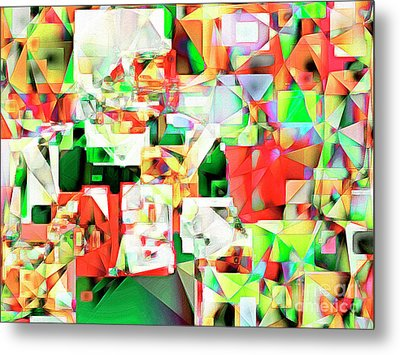 Metal Print featuring the photograph The Football Quarterback In Abstract Cubism 20170328 by Wingsdomain Art and Photography