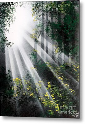 Metal Print featuring the painting The Forest 01 by Greg Moores