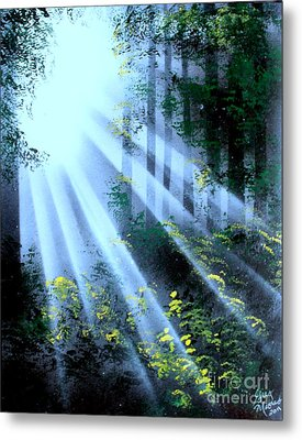 The Forest01 - E Metal Print by Greg Moores