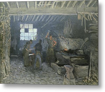 The Forge Metal Print by Alfred Sisley