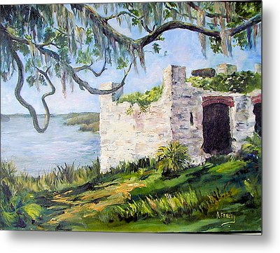 The Fort At Frederica Metal Print by Albert Fendig