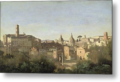 The Forum Seen From The Farnese Gardens Metal Print