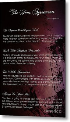 The Four Agreements 3 Metal Print by Andrea Anderegg