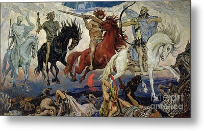 The Four Horsemen Of The Apocalypse Metal Print by Victor Mikhailovich Vasnetsov