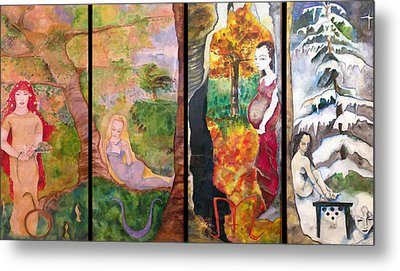The Four Seasons Metal Print by Erika Brown