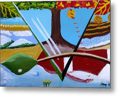 Metal Print featuring the painting The Four Seasons by Rod Ismay