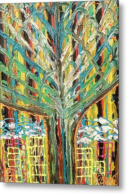 The Freetown Cotton Tree - Abstract Impression Metal Print