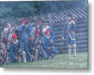 The French Attack On Fort Ligoner 1759 Metal Print by Randy Steele