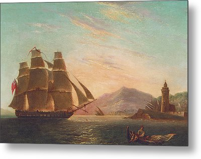 The Frigate Hms Pearl Metal Print by English School