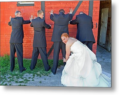 Metal Print featuring the photograph The Frisky Bride by Keith Armstrong